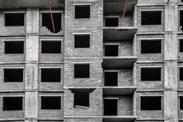 Local de construção para a construção de arranha-céus