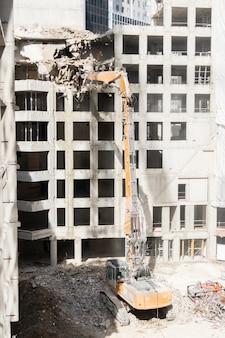 Local de demolição de um edifício