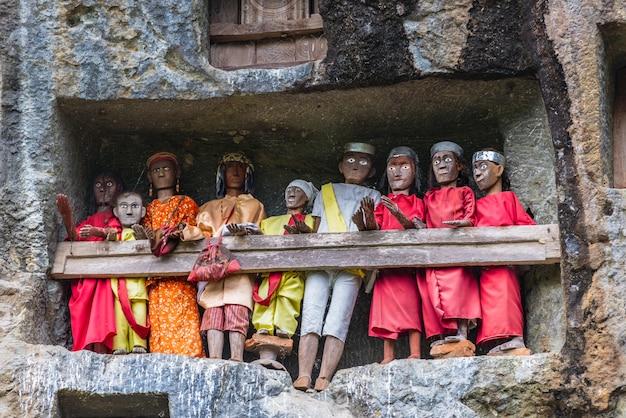 Local de enterro tradicional em tana toraja