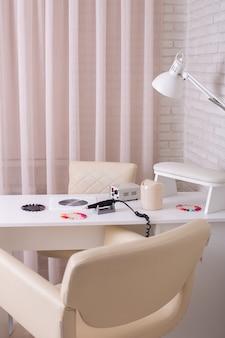 Local de trabalho para nail master em salão de beleza