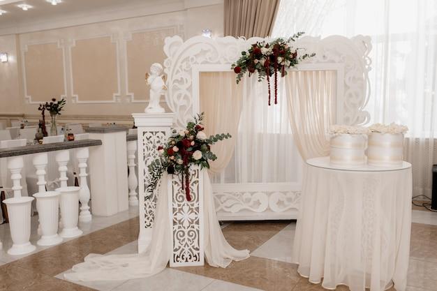 Local onde os noivos se encontrarão com os convidados