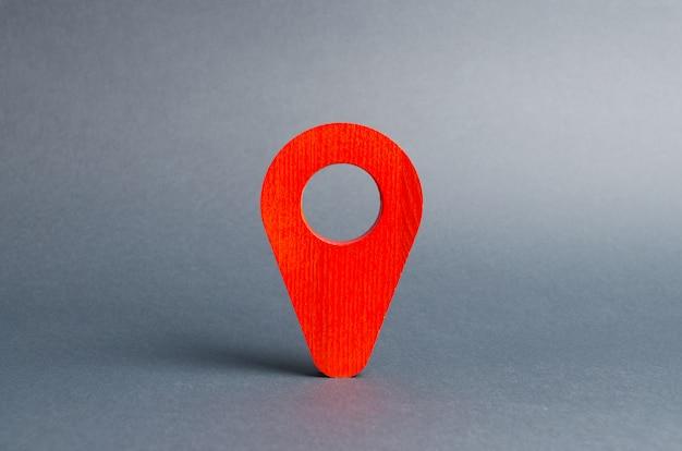 Localização do ponteiro vermelho em cinza