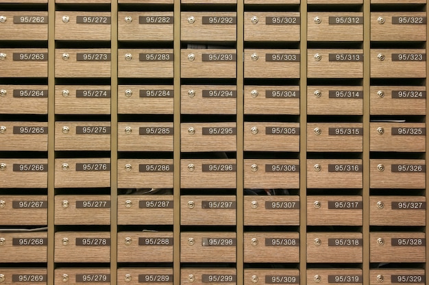 Locker mailboxes postal para manter suas informações, contas, cartão postal, correios etc, regulamentos de caixa postal do condomínio
