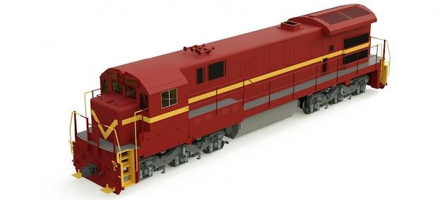 Locomotiva a diesel moderna com grande potência e força para mover trem ferroviário longo e pesado