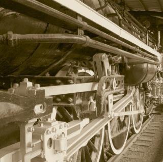 Locomotiva a vapor vintage
