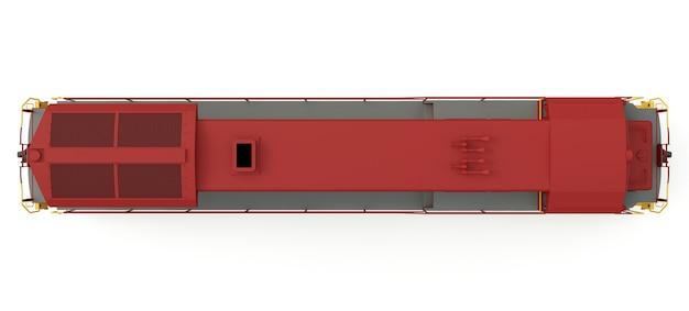 Locomotiva ferroviária a diesel moderna com grande potência e resistência para mover trens ferroviários longos e pesados