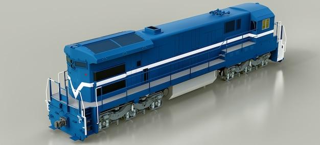 Locomotiva ferroviária a diesel moderna com grande potência