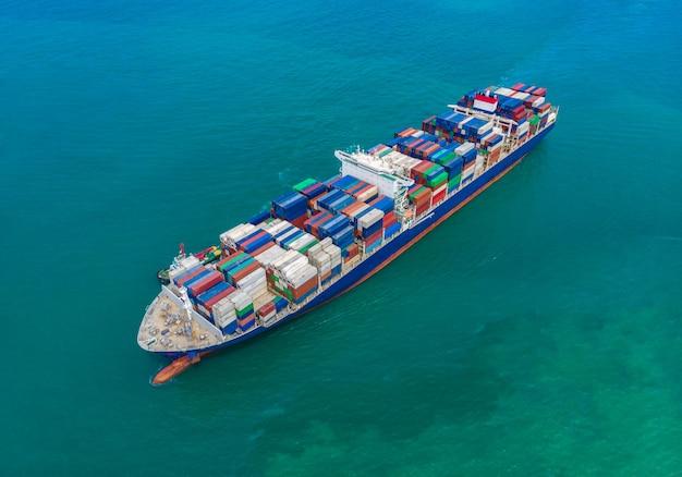 Logística de negócios transporte marítimo internacional no mar