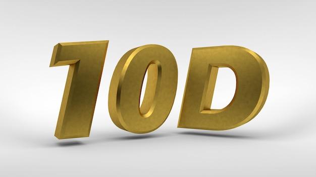 Logotipo 10d dourado