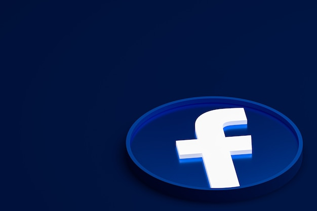 Logotipo 3d do facebook