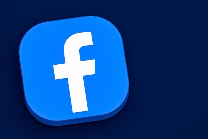 Logotipo 3d do facebook