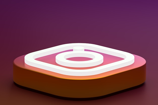 Logotipo 3d do instagram