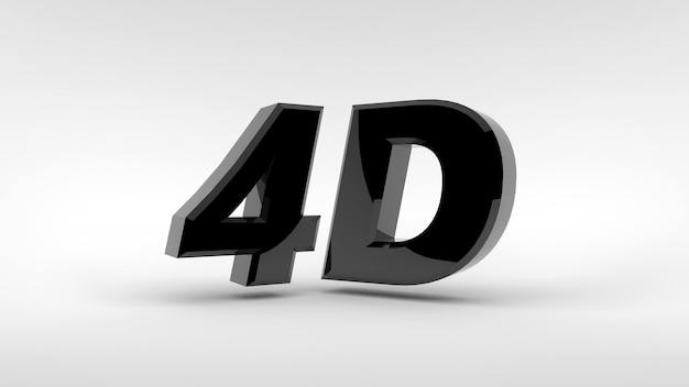 Logotipo 4d isolado em renderização 3d de fundo branco