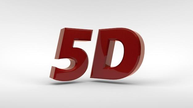 Logotipo 5d isolado em renderização 3d de fundo branco