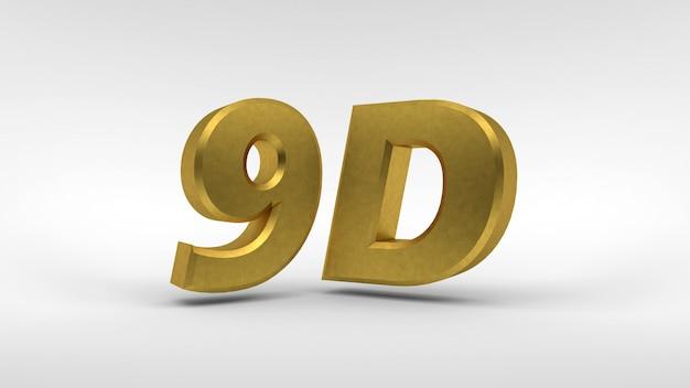 Logotipo 9d dourado