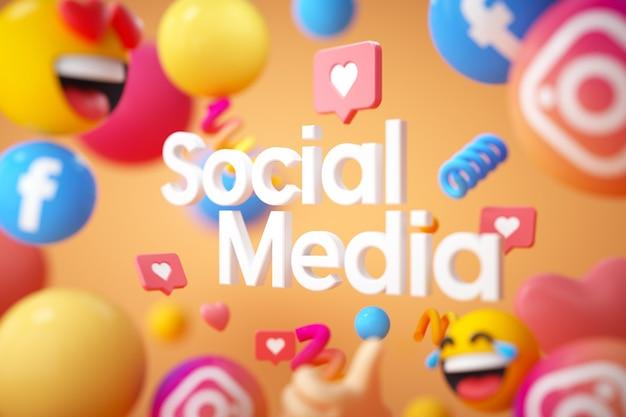 Logotipo da mídia social com emojis