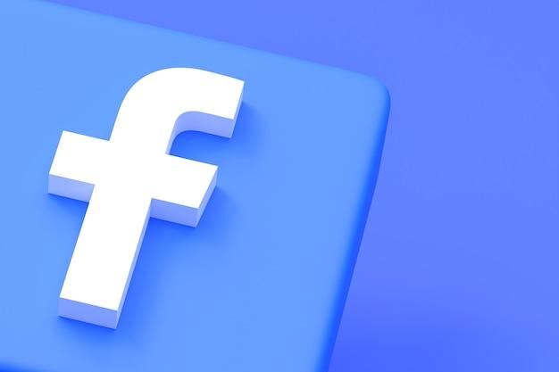 Logotipo da mídia social do facebook em fundo azul