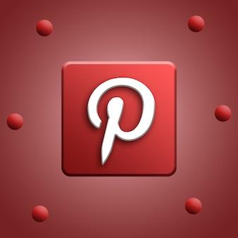 Logotipo da mídia social na renderização da plataforma