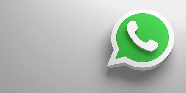 Logotipo de renderização 3d da mídia social