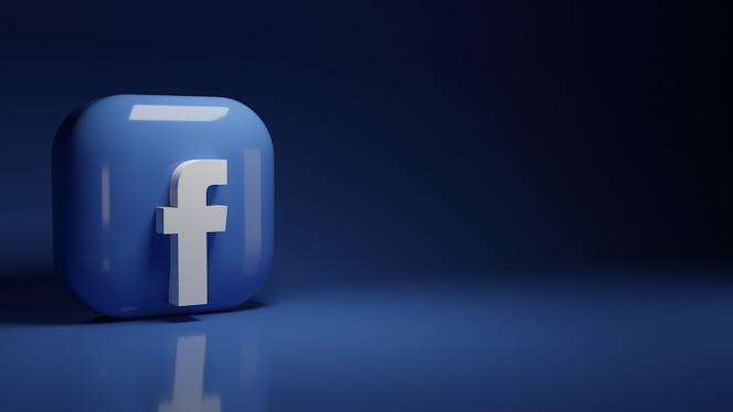 Logotipo do aplicativo 3d facebook