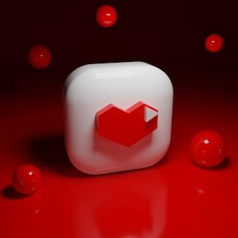 Logotipo do aplicativo de jogos do youtube 3d