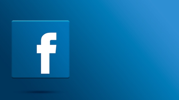 Logotipo do facebook na plataforma 3d