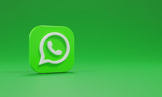 Logotipo do ícone de renderização 3d que é realista