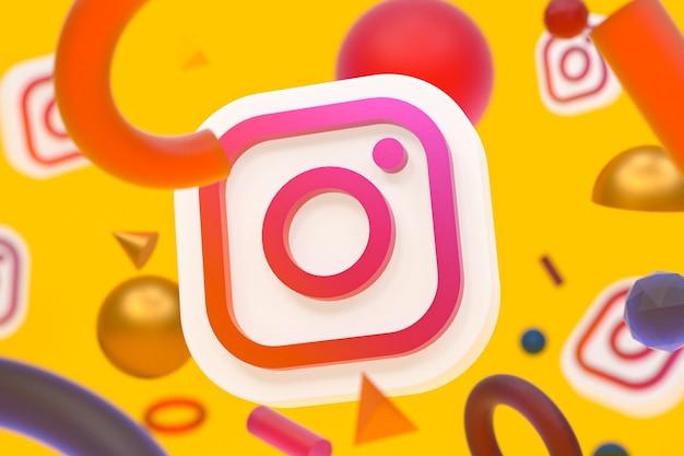 Logotipo do instagram ig com elementos geométricos