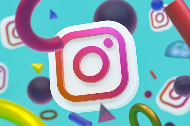 Logotipo do instagram ig em geometria abstrata
