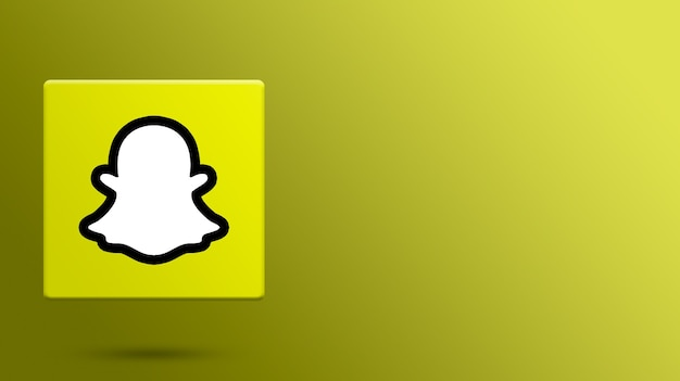 Logotipo do snapchat na plataforma 3d