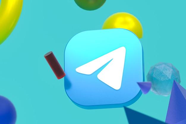 Logotipo do telegram em geometria abstrata