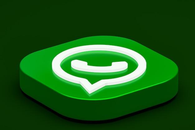 Logotipo do whatsapp 3d