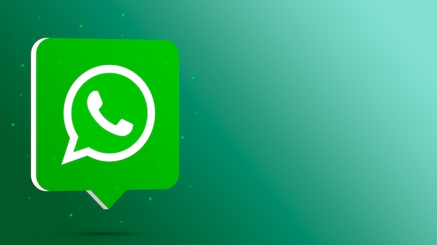 Logotipo do whatsapp no balão de fala 3d