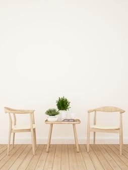 Loja de café ou sala de jantar - renderização em 3d