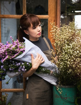 Loja de flores loja florista botânica bouquet florescendo