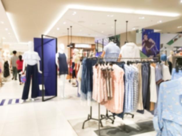 Loja de roupas turva