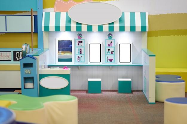 Loja de salão de cabeleireiro em cópia para jogar para crianças