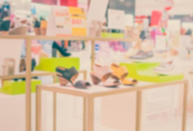 Loja de sapatos borradas