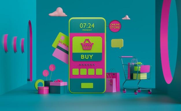 Loja on-line no aplicativo móvel