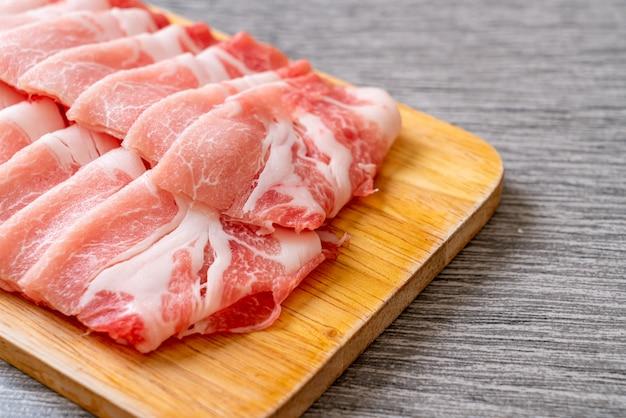 Lombo de porco fresco fatiado