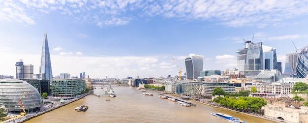 Londres, centro da cidade, com, rio thames