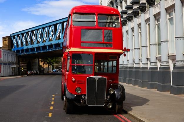 Londres red bus tradicional antigo