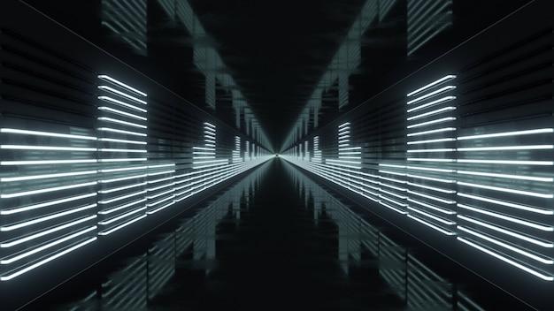 Loop de túnel com equalizador de néon