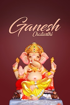 Lord ganesha sclupture, festival indiano de ganesh