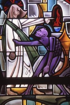 Los angeles, estados unidos - 17 de junho de 1985: o diabo tenta jesus