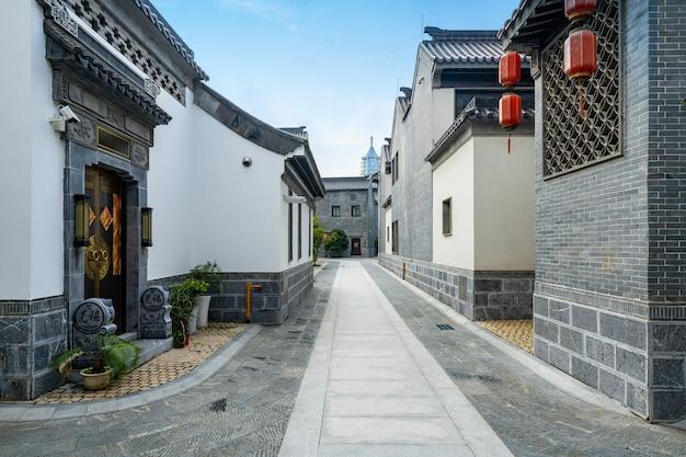 Lotus lane, o antigo beco da cidade em nanjing, província de jiangsu, china