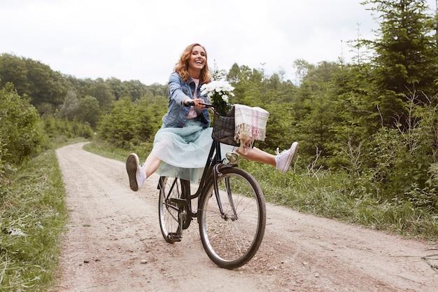 Loucura durante o passeio de bicicleta