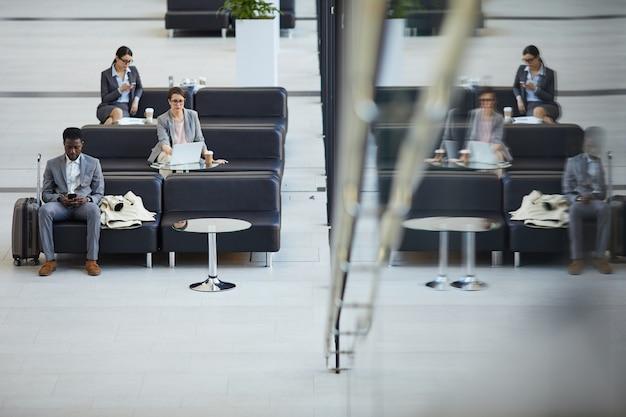 Lounge da classe executiva do aeroporto