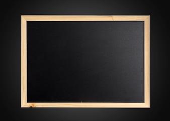 Lousa em branco vazia no frame de madeira