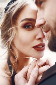 Lovely closeup casal